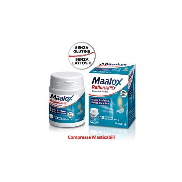 MAALOX REFLURAPID 40CPR MASTIC