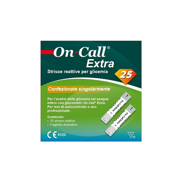 ON CALL EXTRA STR GLICEM 25PZ