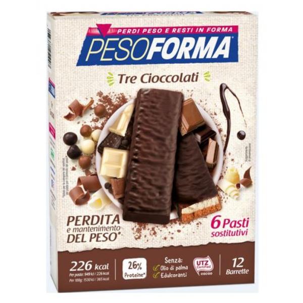 PESOFORMA BARRETTE AI 3 CIOCCOLATI