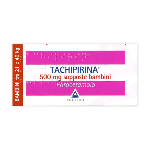 TACHIPIRINA%BB 10SUPP 500MG