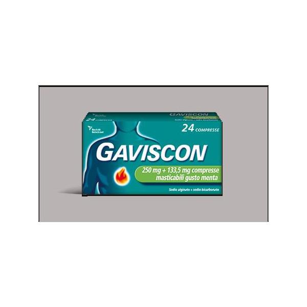 GAVISCON%24CPR MENT250+133,5MG